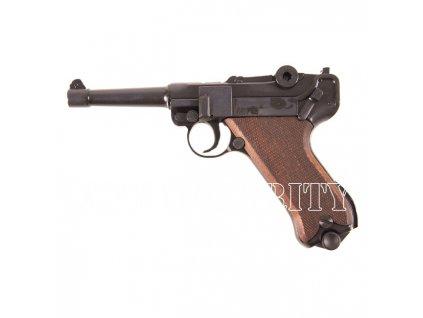 Plynová pistole Cuno Melcher P08 černá, kal.9m