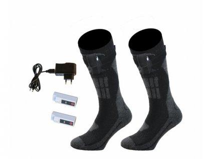 Vyhřívané ponožky vlněné Alpenheat Fire Socks - 1 pár - XL