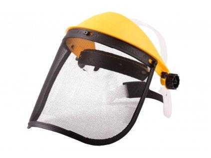 Ochranný štít bez sluchátek s kovovou síťkou