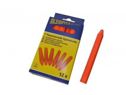 Lesnické křídy Bleispitz 12ks - fluorescenční