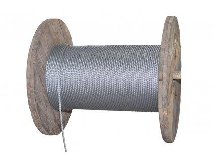 Lano ocelové 8mm TD - jiná délka (uveďte v metrech)