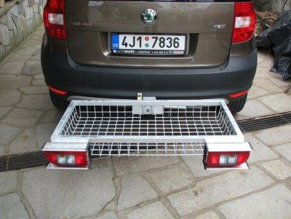 Zadní nosic -Optimal EHSV pozink 900 x 500 x 125 mm + světla a ochrana světel