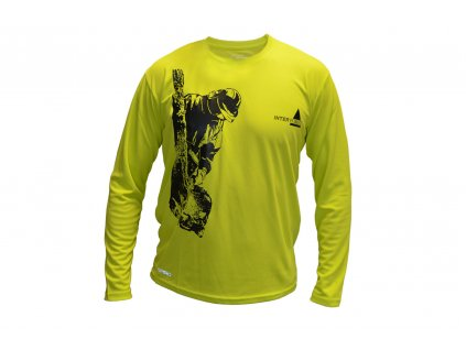 Tričko Spiro, dlouhý rukáv, žlutozelené vel. M