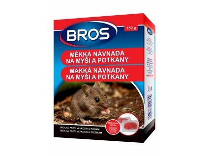 Bros měkká nástraha na myši a potkany 150 g rodenticid