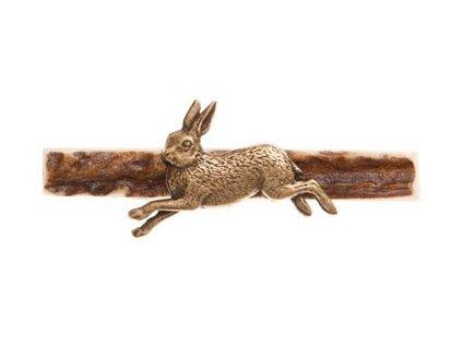 Kravatová spona běžící zajíc