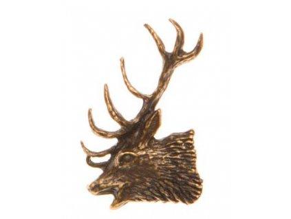 Odznak na klobouk hlava jelena levá