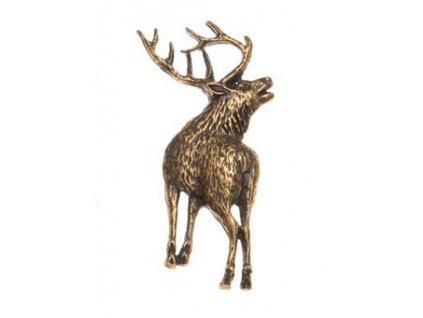 Odznak na klobouk jelen postava zezadu
