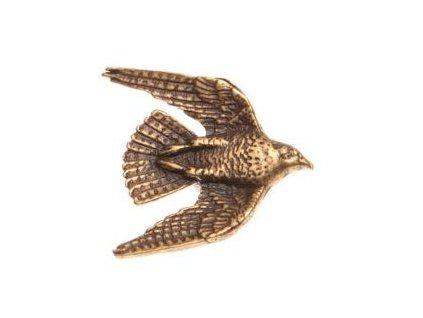 Odznak na klobouk sokol v letu