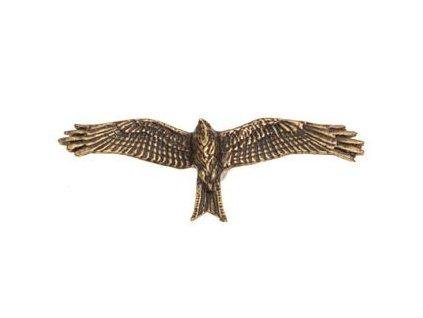 Odznak na klobouk dravec v letu