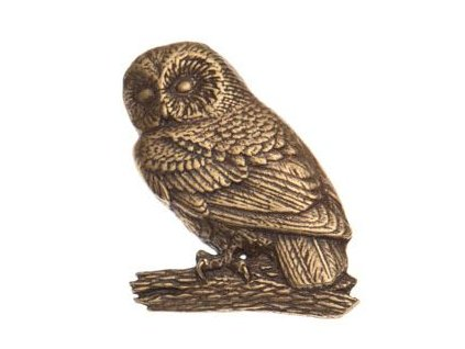 Odznak na klobouk sova