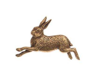 Odznak na klobouk běžící zajíc