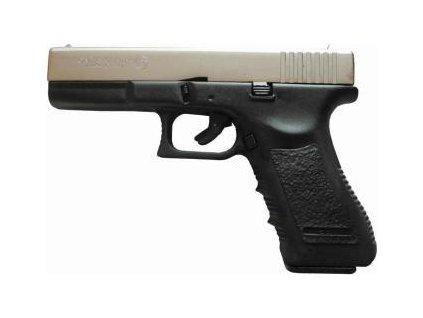pistole Bruni, model GAP - replika Glock, satén