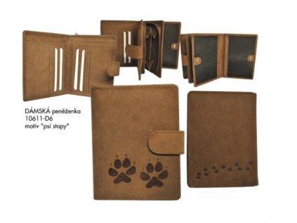 Dámská peněženka 11 psí stopy