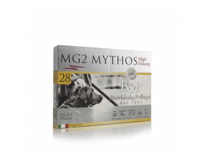 Náboj brokový Bashieri a Pellagri, MG2 MYTHOS, 20/70mm, brok 3,3mm, 28g, kování 15mm