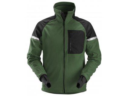 Bunda AllroundWork fleece tmavě zelená XS Snickers Workwear