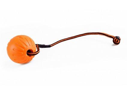 Míček FOAM se šňůrkou, velký - Oranžová
