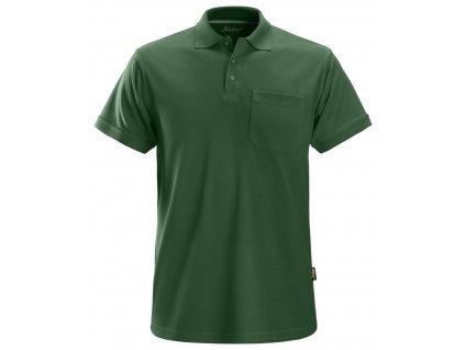 Polokošile s náprsní kapsou tmavě zelená XS Snickers Workwear