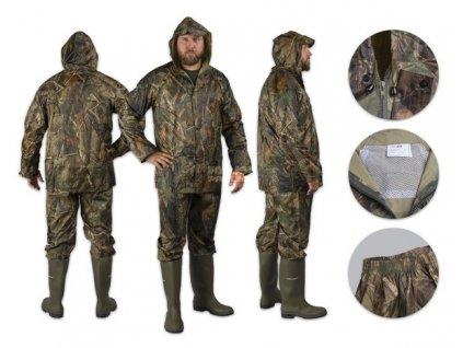 Faceliftovany nepromokavy dvoudílny oblek, v unikátním trojrozměrném