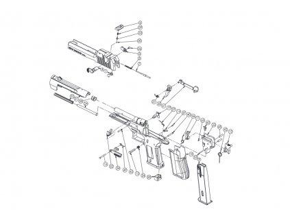 Plynová pistole Retay Eagle X 9 mm P.A.K. - satén