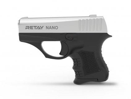 Plynová pistole Retay Nano 8 mm P.A.K. - chrome