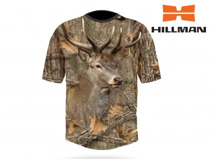 Myslivecké tričko bavlna DGT Jelen b. Kamufláž