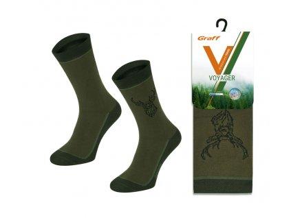 Ponožky myslivecké letní Voyager 054 jelen