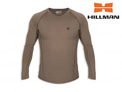 Lovecké tričko Hillman z merino vlny dl. rukáv