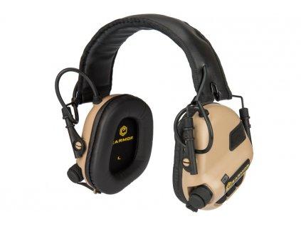 Sluchátka elektronická EARMOR M31 MOD3 Coyote Brown