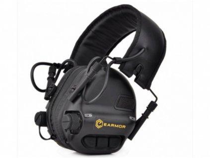 Sluchátka elektronická EARMOR M31 MOD3 Tactical Black