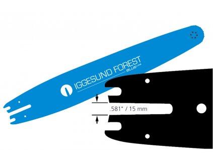 "Harvestorová lišta IGGESUND BLUE Line W2801, 75cm, 2mm, .404"""
