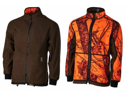 polar browning powerfleece rev zippin verde naranja