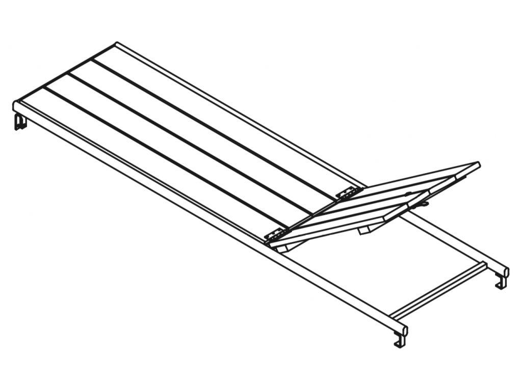 Podlahový dílec s poklopem (s průlezem)