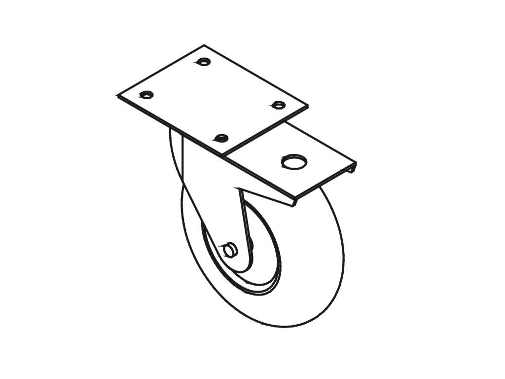 Polyuretanové kolečko prům. 150:40mm, nosnost 2,5 kN
