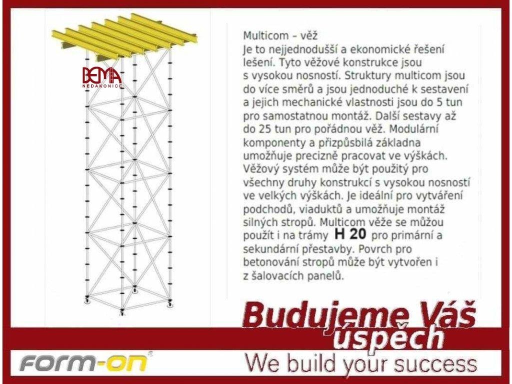 1 Dřevěný nosník H 20 390 cm