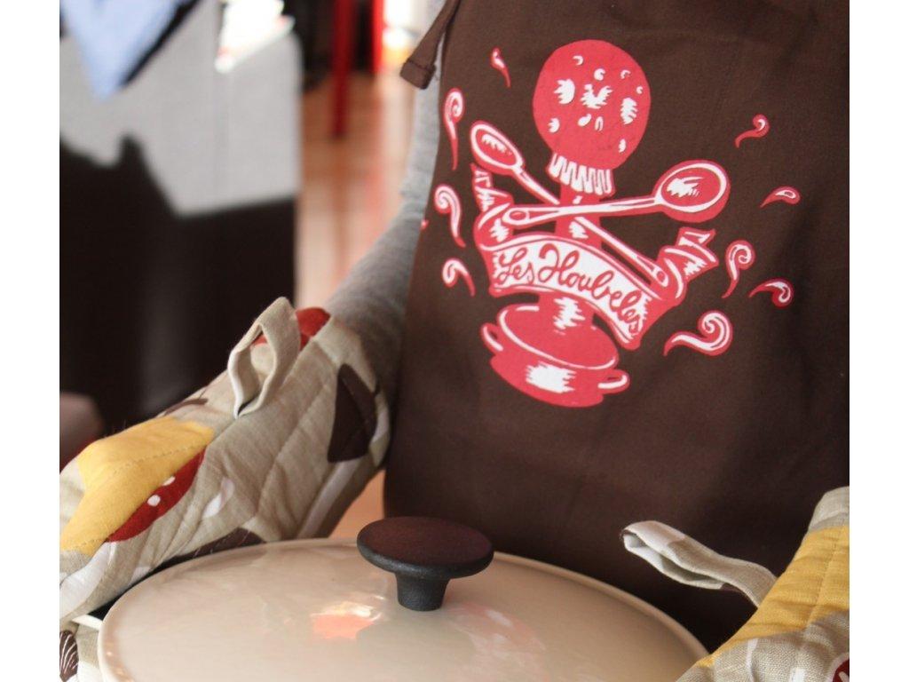 Zástěra Les Houbeles - Kuchařka