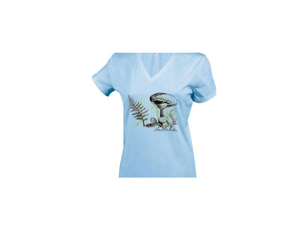Tričko zátiší s houbou