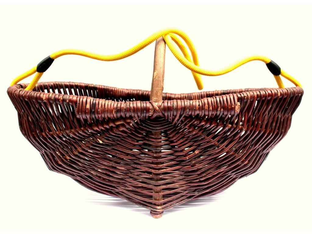 Košík na sběr bylin a vinné révy s barevným popruhem