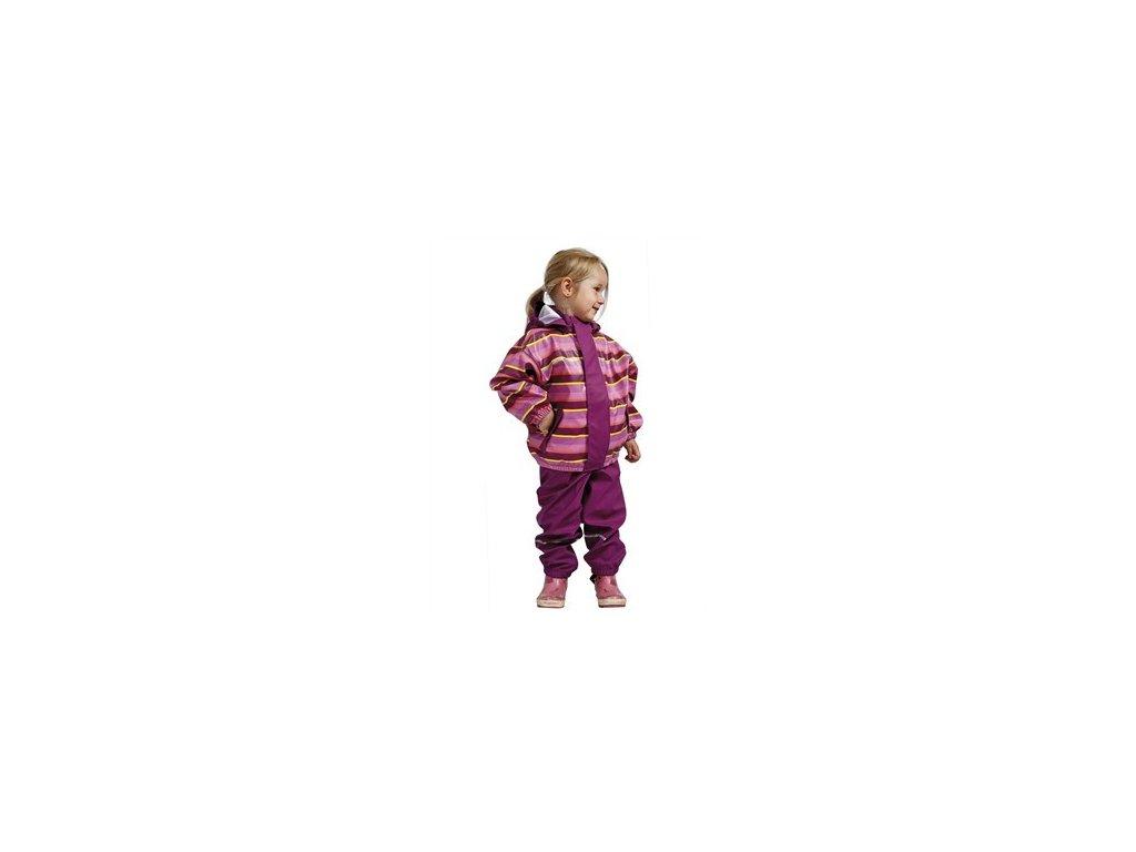 Dětský nepromokavý set - růžový pruh