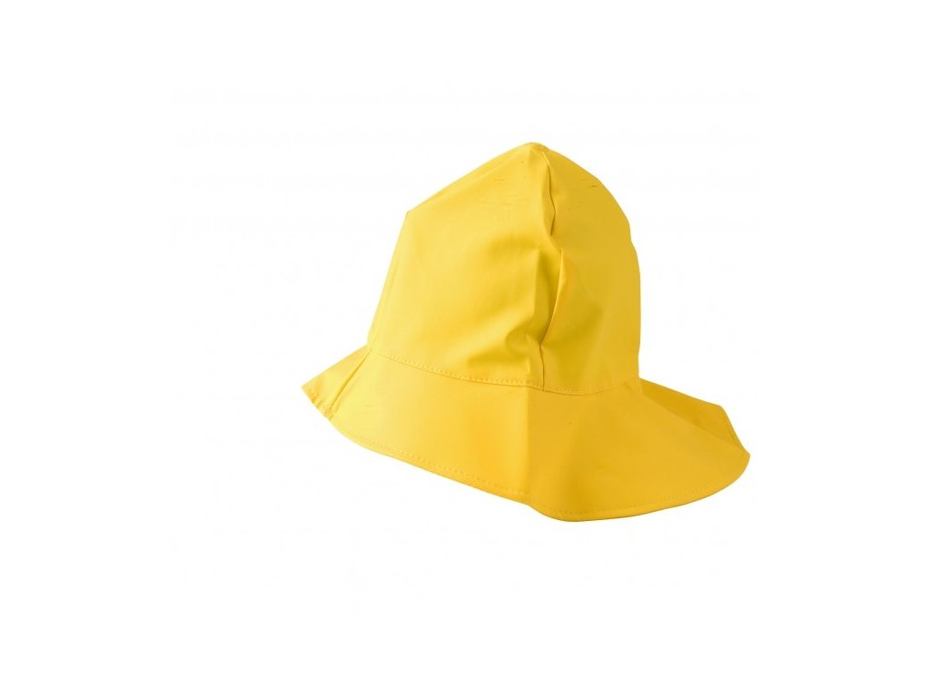 Klobouk proti dešti - žlutý
