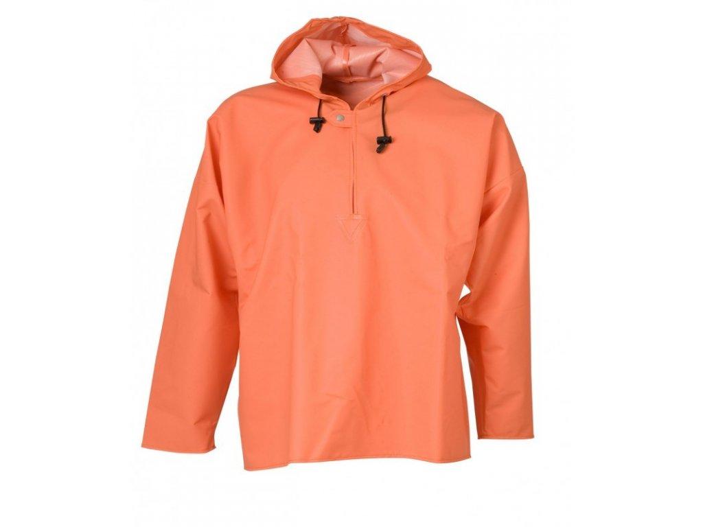 Pláštěnka přes hlavu - unisex, oranžová