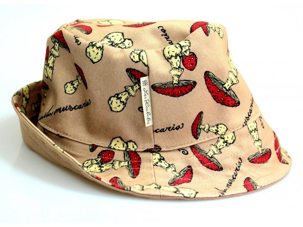 Dětský klobouk - muchomůrky
