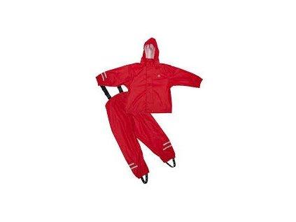 Dětský nepromokavý set Elka - červený