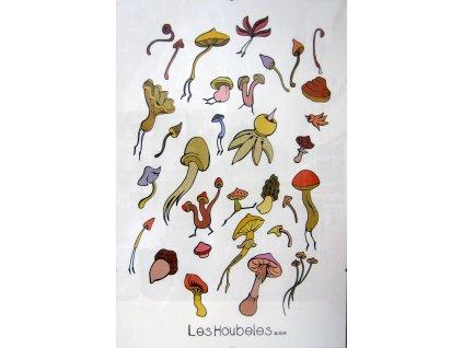"""Plakát """"Létající houby"""""""