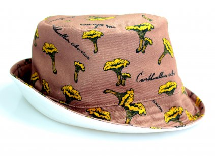 Dětský klobouk - lišky béžový