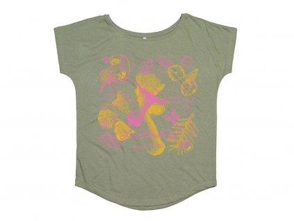 Dámské tričko - barevné houby
