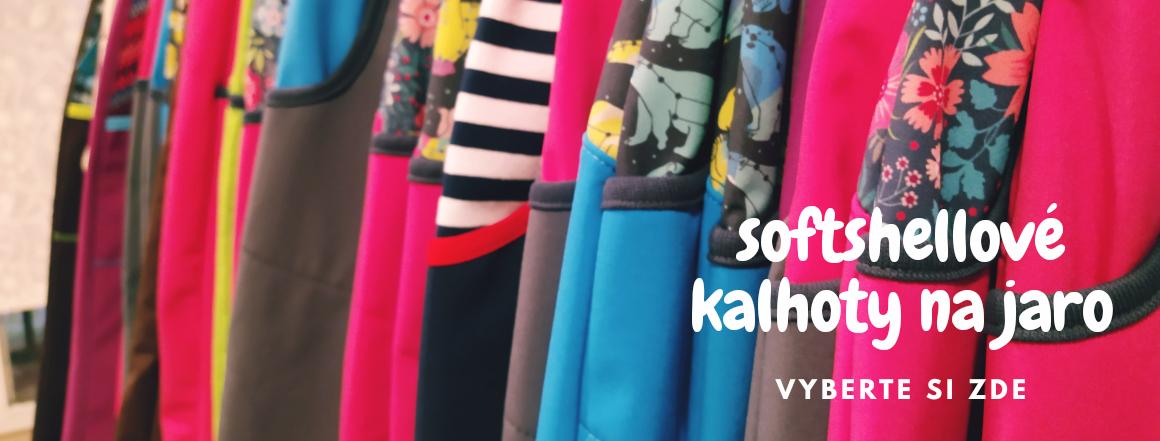 Dětské softshellové kalhoty na jaro, české, kvalitní