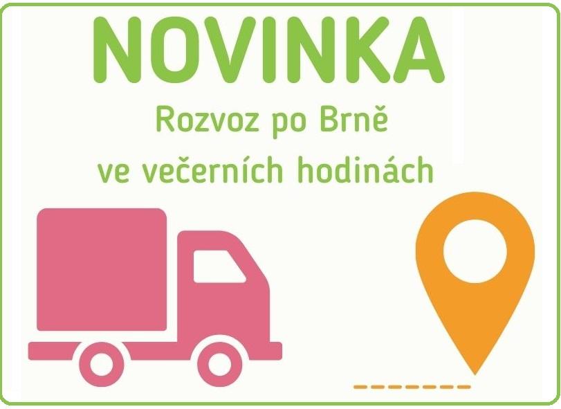 NOVINKA večerní rozvoz po Brně