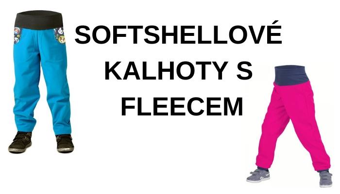 Softshellové kalhoty S FLEECEM