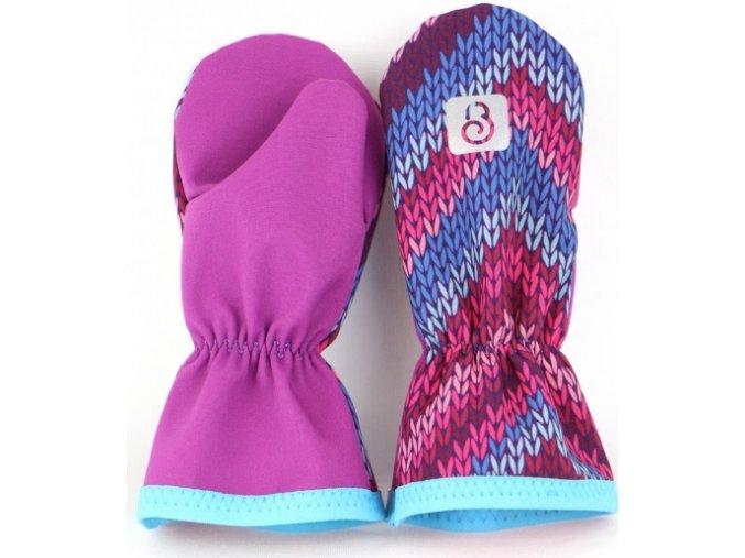 460x1000 g2876 softshellove rukavice palcaky fialova pleteny vzor