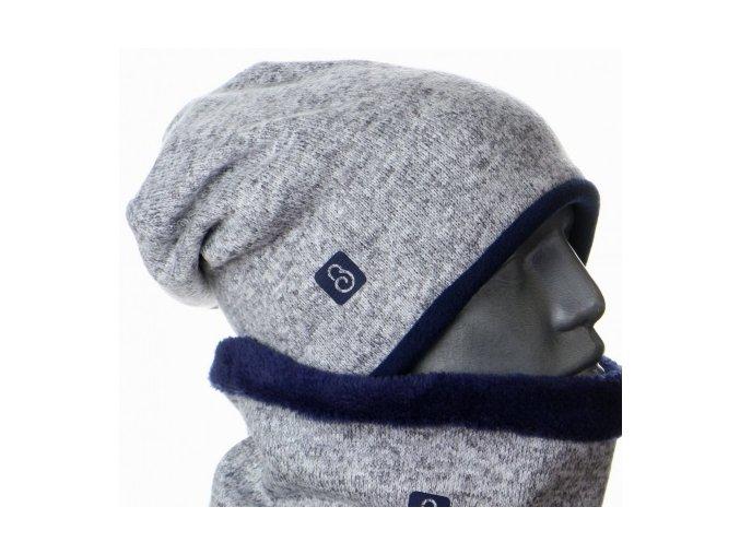 460x1000 g2553 zimni svetrova cepice seda tm. modra.